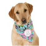Summer Flowers Dog Bandana Scarf w/ Name and Initial
