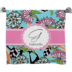 Summer Flowers Full Print Bath Towel (Personalized)