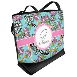 Summer Flowers Beach Tote Bag (Personalized)