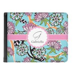 Summer Flowers Genuine Leather Men's Bi-fold Wallet (Personalized)