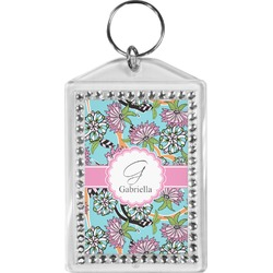 Summer Flowers Bling Keychain (Personalized)