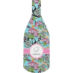 Summer Flowers Bottle Shaped Cutting Board (Personalized)