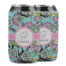 Summer Flowers Can Cooler (12 oz) w/ Name and Initial
