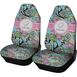 Summer Flowers Car Seat Covers (Set of Two) (Personalized)