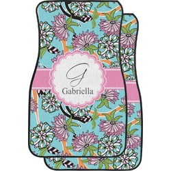 Summer Flowers Car Floor Mats (Front Seat) (Personalized)