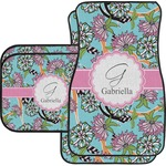Summer Flowers Car Floor Mats (Personalized)