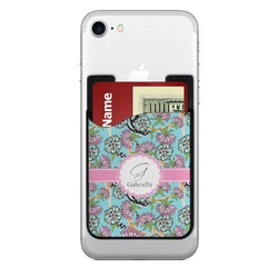 Summer Flowers Cell Phone Credit Card Holder (Personalized)