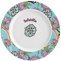 Summer Flowers Ceramic Dinner Plates (Set of 4) (Personalized)