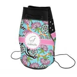 Summer Flowers Neoprene Drawstring Backpack (Personalized)