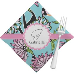 Summer Flowers Napkins (Set of 4) (Personalized)