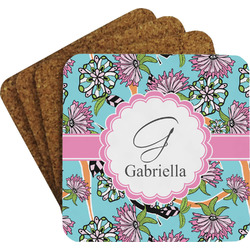 Summer Flowers Coaster Set (Personalized)