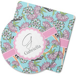 Summer Flowers Rubber Backed Coaster (Personalized)