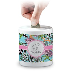 Summer Flowers Coin Bank (Personalized)