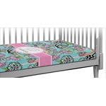 Summer Flowers Crib Fitted Sheet (Personalized)
