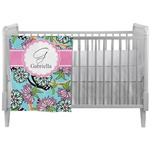 Summer Flowers Crib Comforter / Quilt (Personalized)