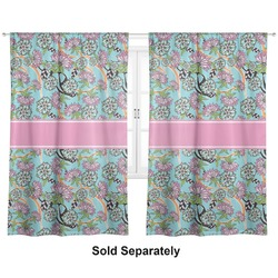 "Summer Flowers Curtains - 56""x80"" Panels - Lined (2 Panels Per Set) (Personalized)"