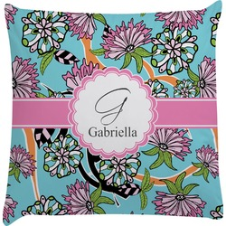 Summer Flowers Decorative Pillow Case (Personalized)
