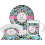 Summer Flowers Dinner Set - 4 Pc (Personalized)