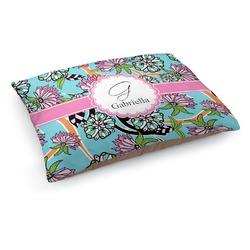 Summer Flowers Dog Bed (Personalized)