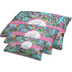 Summer Flowers Dog Bed w/ Name and Initial