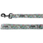 Summer Flowers Deluxe Dog Leash (Personalized)