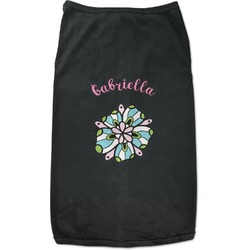 Summer Flowers Black Pet Shirt (Personalized)
