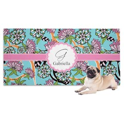 Summer Flowers Dog Towel (Personalized)