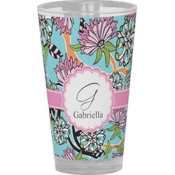 Summer Flowers Drinking / Pint Glass (Personalized)