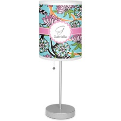 """Summer Flowers 7"""" Drum Lamp with Shade Polyester (Personalized)"""