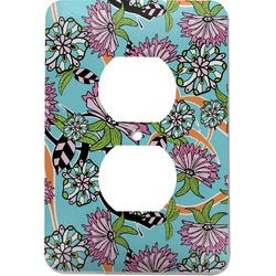 Summer Flowers Electric Outlet Plate (Personalized)