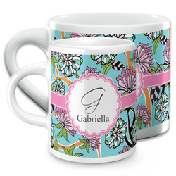 Summer Flowers Espresso Cups (Personalized)