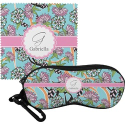 Summer Flowers Eyeglass Case & Cloth (Personalized)