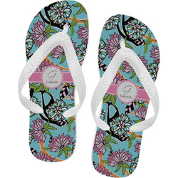 Summer Flowers Flip Flops (Personalized)