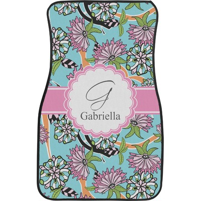 summer flowers car floor mats front seat personalized youcustomizeit. Black Bedroom Furniture Sets. Home Design Ideas