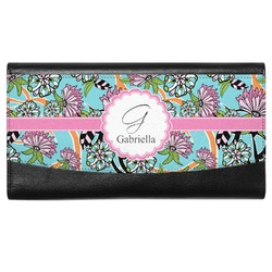 Summer Flowers Genuine Leather Ladies Wallet (Personalized)