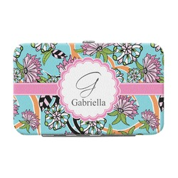 Summer Flowers Genuine Leather Small Framed Wallet (Personalized)
