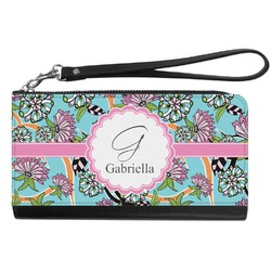 Summer Flowers Genuine Leather Smartphone Wrist Wallet (Personalized)