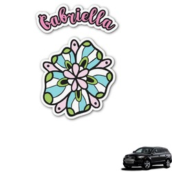 Summer Flowers Graphic Car Decal (Personalized)