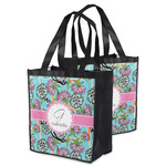 Summer Flowers Grocery Bag (Personalized)