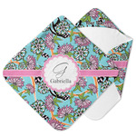 Summer Flowers Hooded Baby Towel (Personalized)