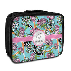 Summer Flowers Insulated Lunch Bag (Personalized)