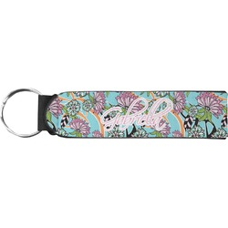 Summer Flowers Neoprene Keychain Fob (Personalized)