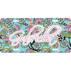Summer Flowers Front License Plate (Personalized)