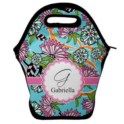 Summer Flowers Lunch Bag w/ Name and Initial