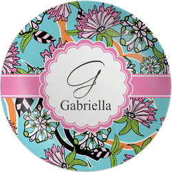 "Summer Flowers Melamine Plate - 8"" (Personalized)"