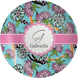 Summer Flowers Melamine Plate (Personalized)