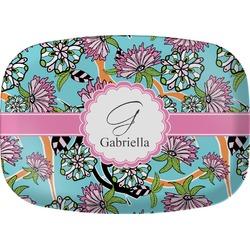 Summer Flowers Melamine Platter (Personalized)