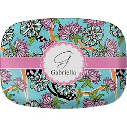 Summer Flowers Melamine Platter (Personalized)