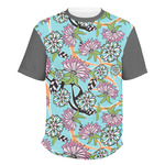 Summer Flowers Men's Crew T-Shirt (Personalized)
