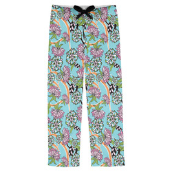 Summer Flowers Mens Pajama Pants (Personalized)